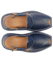 Load image into Gallery viewer, men blue lightweight Pesahwari Chappal for men
