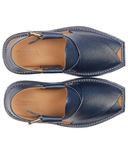 men blue lightweight Pesahwari Chappal for men