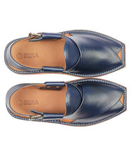 Load image into Gallery viewer,  blue men Peshawari Chappal