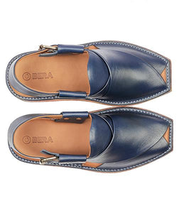 blue men Peshawari Chappal