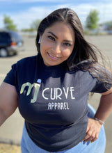 Load image into Gallery viewer, MJ Curve Classic Black Tee