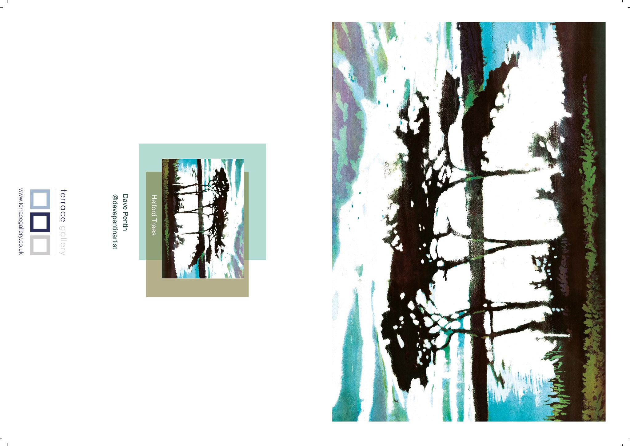 Helford Trees  - greetings card