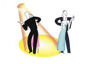 Jeeves and Wooster - Dancers - GICLEE PRINT