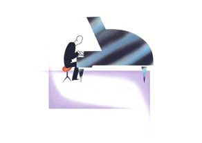 Jeeves and Wooster - Pianist - GICLEE PRINT
