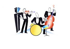 Jeeves and Wooster - Band - GICLEE PRINT
