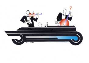 Jeeves and Wooster - Car change - GICLEE PRINT