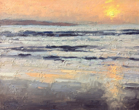 Summer sunset, Gwithian - SOLD