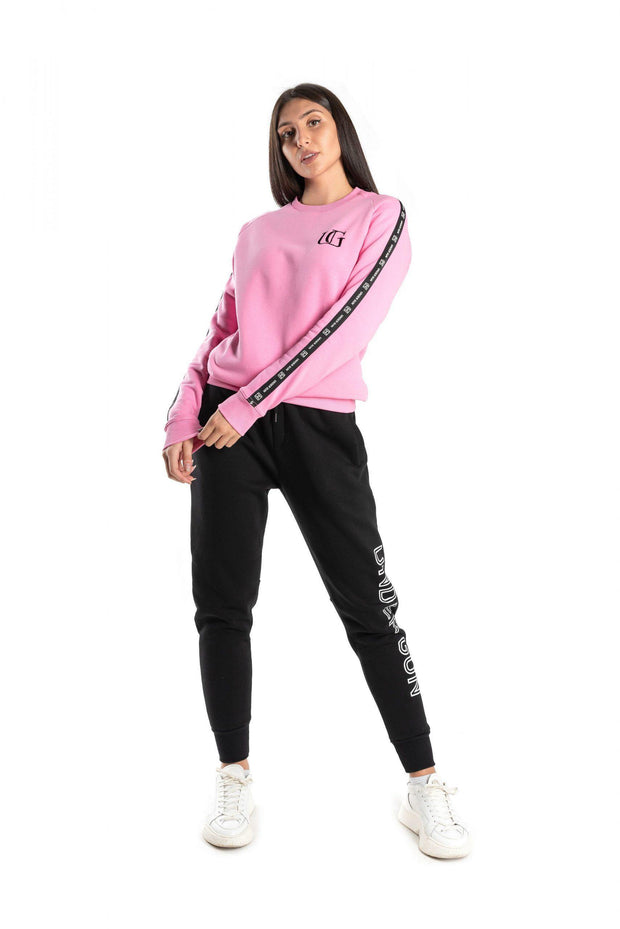 Under Gun Side Stripe Pink Sweater - Mybrands Store