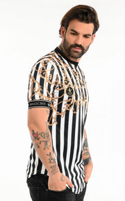 MagicBee Tee- Striped Chains-T-Shirts-Mybrands Store