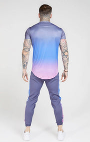 SikSilk Curved Hem Fade T-Shirt - Mybrands Store
