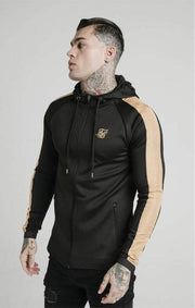 SikSilk Scope Satin Zip Through Hoodie - Mybrands Store