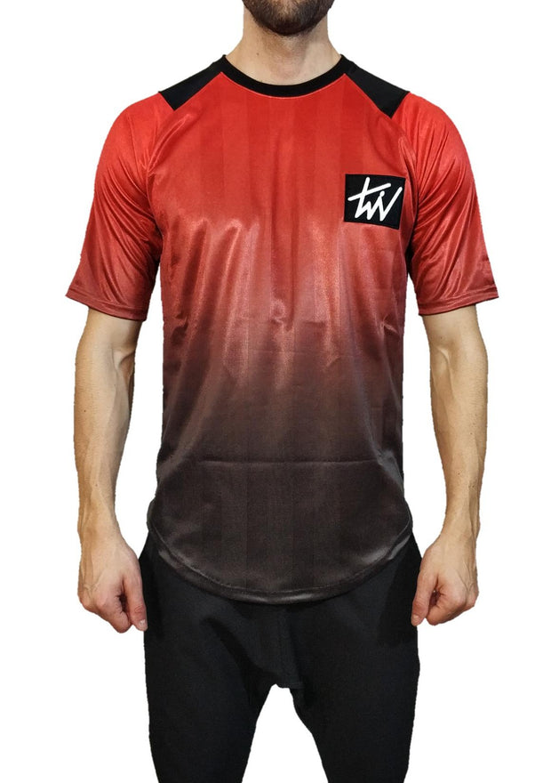 Twin Black Shiny T-Shirt Red - Mybrands Store