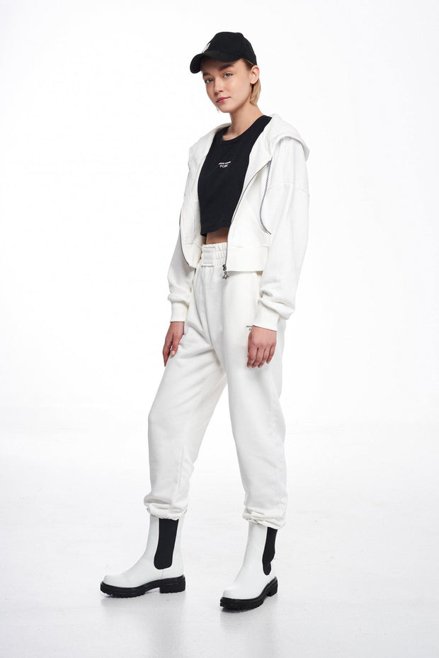 P/COC Women Joggers Pants Off White - Mybrands Store