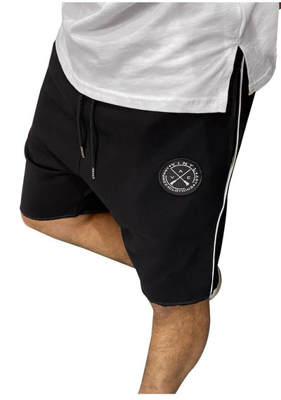 Vinyl Art Shorts with One Stripe - Mybrands Store