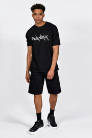 Twin Black Oversize T-Shirt Black