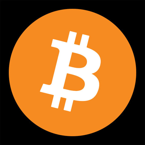 bitcoin t-shirt black with orange logo