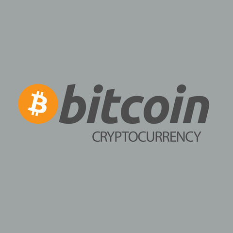 bitcoin cryptocurrency t-shirt orange and grey 100% cotton silkscreen