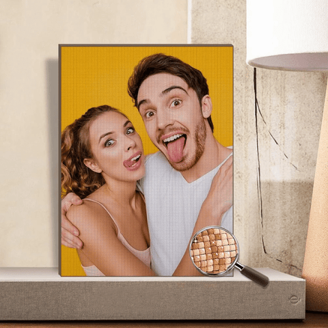 Personalized Diamond Painting Kit Full Square Round Rhinestone Unique Gifts Custom Photo