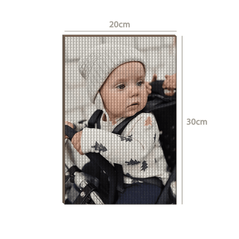 5D Custom Diamond Painting Kit Full Square Round Rhinestone 20*30cm - Newborn