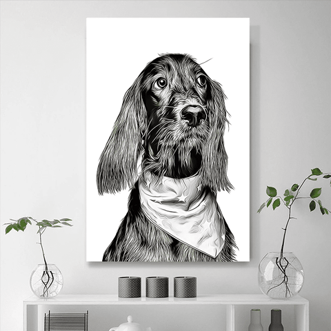 Custom Pet Portraits Painting 24*36in - White