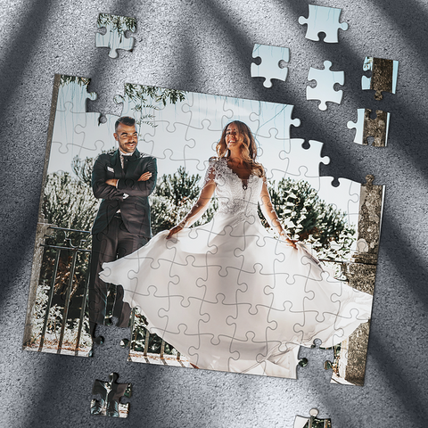Custom Photo Jigsaw Puzzle Be My Bride - 35-1000 pieces