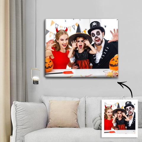 Halloween Custom Family Photo Wall Art Painting Canvas 30*40cm - Halloween Unique Gift