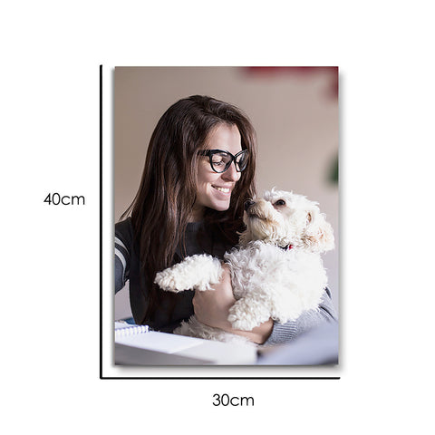 Custom Photo Wall Art Decor Painting Canvas Pet Lover - 30*40cm