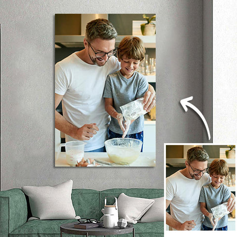Father's Day Gifts Custom Photo Wall Art Painting Canvas - 50*70cm