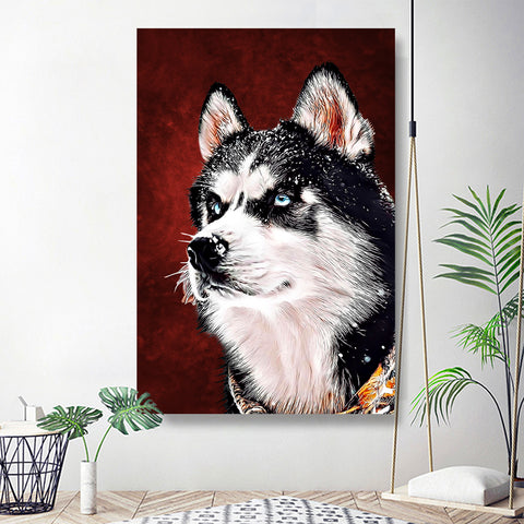 Custom Pet Portrait From Photo 20*30in - Crimson