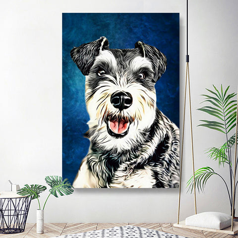 Custom Pet Art Home Decor for Livingroon 20*30in - Sapphire