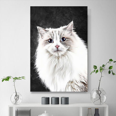 Custom Pet Portraits Painting 24*36in - Slate