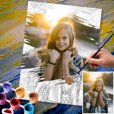Custom Paint By Number Kits DIY Painting By Numbers 36 Colors - 30*40cm