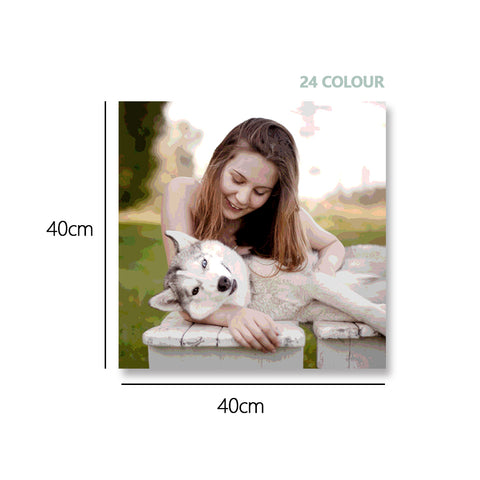 Custom Photo DIY Painting By Numbers 24 Colors - 40*40cm