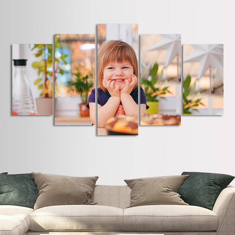Custom Photo 5pcs Contemporary Painting for Living Room Wall Art