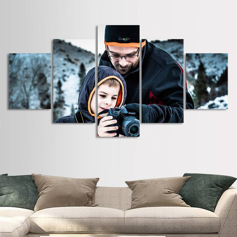Custom Painting 5pcs Contemporary for Family Unique Gifts Wall Decor