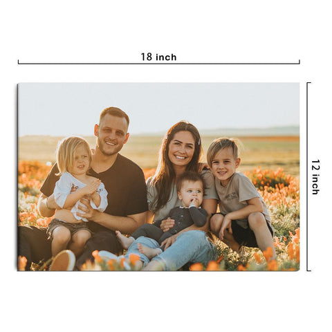 Custom Photo Canvas Prints With Frame Family Wall Decor 45*30cm