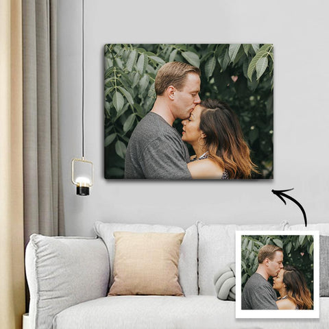 Custom Photo Canvas Prints With Frame Family Wall Decor 30*20cm