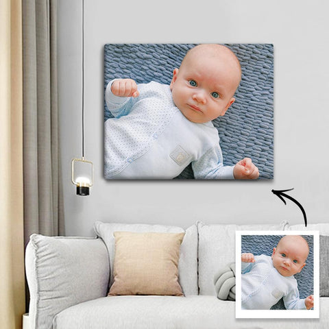 Custom Photo Canvas Prints With Frame Family Wall Decor 25*20cm