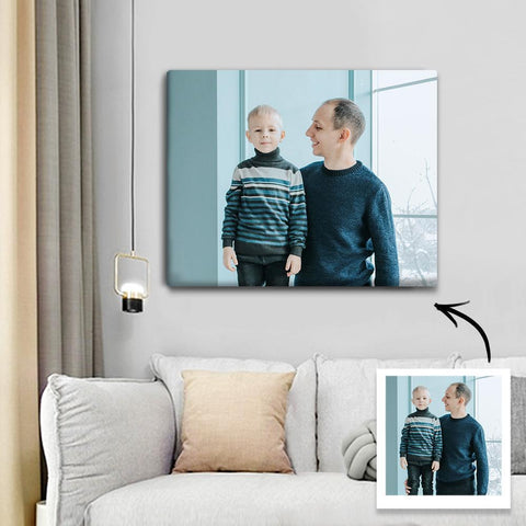 Custom Photo Canvas Prints With Frame Family Wall Decor 17.5*12.5cm