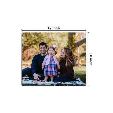 Custom Photo Canvas Prints With Frame Family Wall Decor 30*25cm