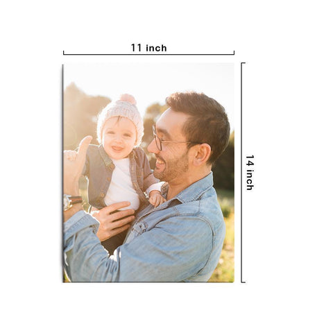 Custom Photo Canvas Prints With Frame Family Wall Decor 27.5*35cm