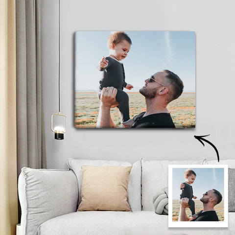 Custom Photo Canvas Prints With Frame Family Wall Decor 40*40cm