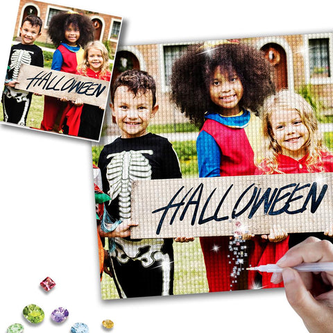 Halloween 5D Custom Photo Diamond Painting Kit Full Square Round Rhinestone Personalized Gift