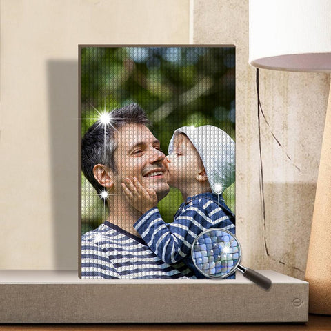 Custom Diamond Painting Full Square Round Rhinestone Unique Gifts 20*30cm - Father's Day Gifts