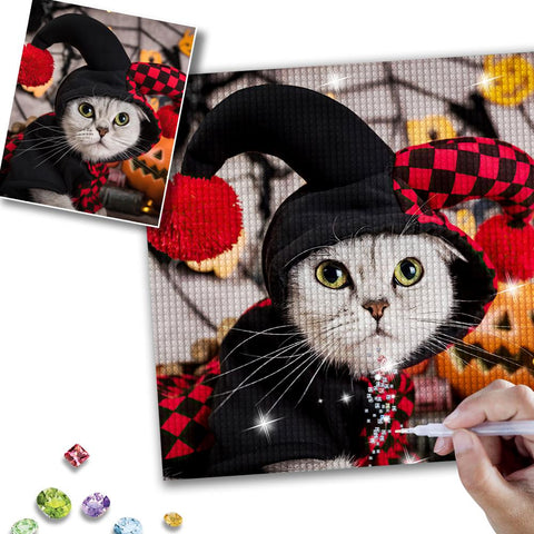 Halloween 5D Custom Pet Photo Diamond Painting Kit Full Square Round Rhinestone 20*30cm