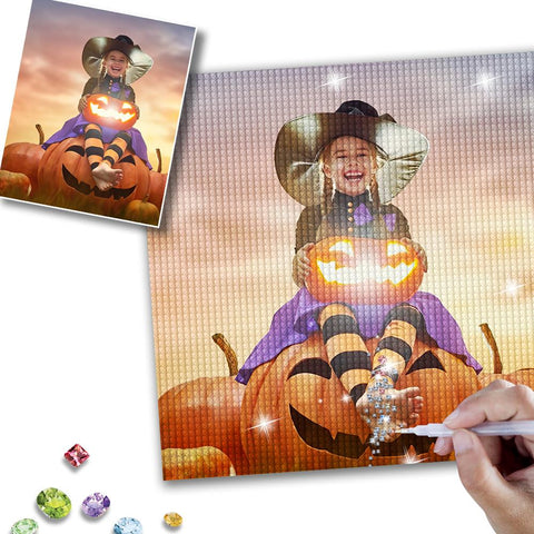 Halloween 5D Custom Photo Diamond Painting Kit Full Square Round Rhinestone Unique Gift 20*30cm