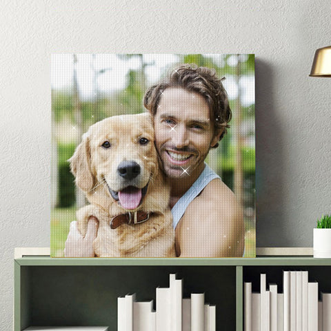 Custom Pet Photo Diamond Painting Kit Full Square Round Rhinestone Unique Gifts Personalized