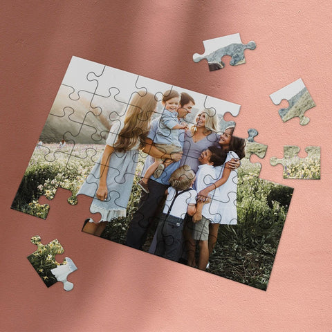 Father's Day Gifts Custom Photo Jigsaw Puzzle Sweet Home 35-1000 pieces