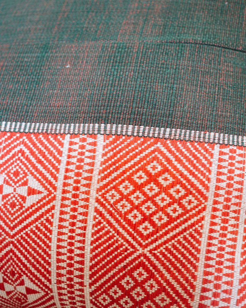 Geometric Handmade Cushion Cover - Red - YGN Collective