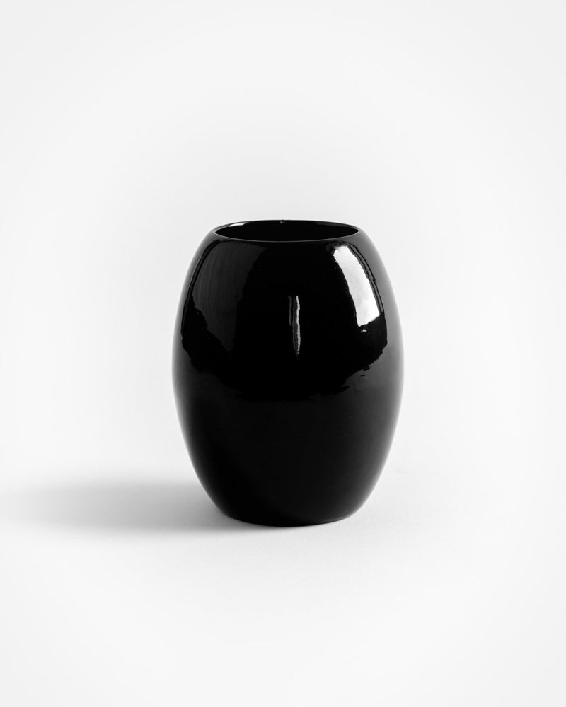 Myanmar Black Lacquer Pot Vase - YGN Collective